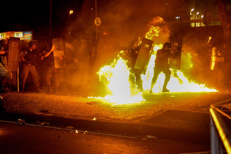 Protesto contra visita do Papa, Rio de Janeiro