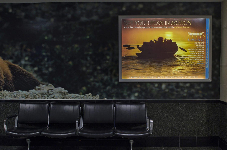 Airport Lightbox Ad for UMIAQ Environmental, LLC