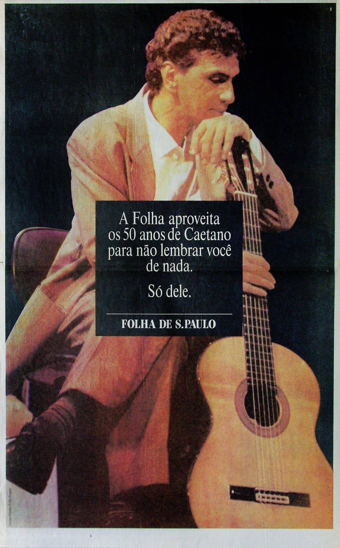 Anúncio da Folha de S. Paulo