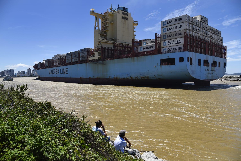 Cargo ship, Itajai, Santa Catarina