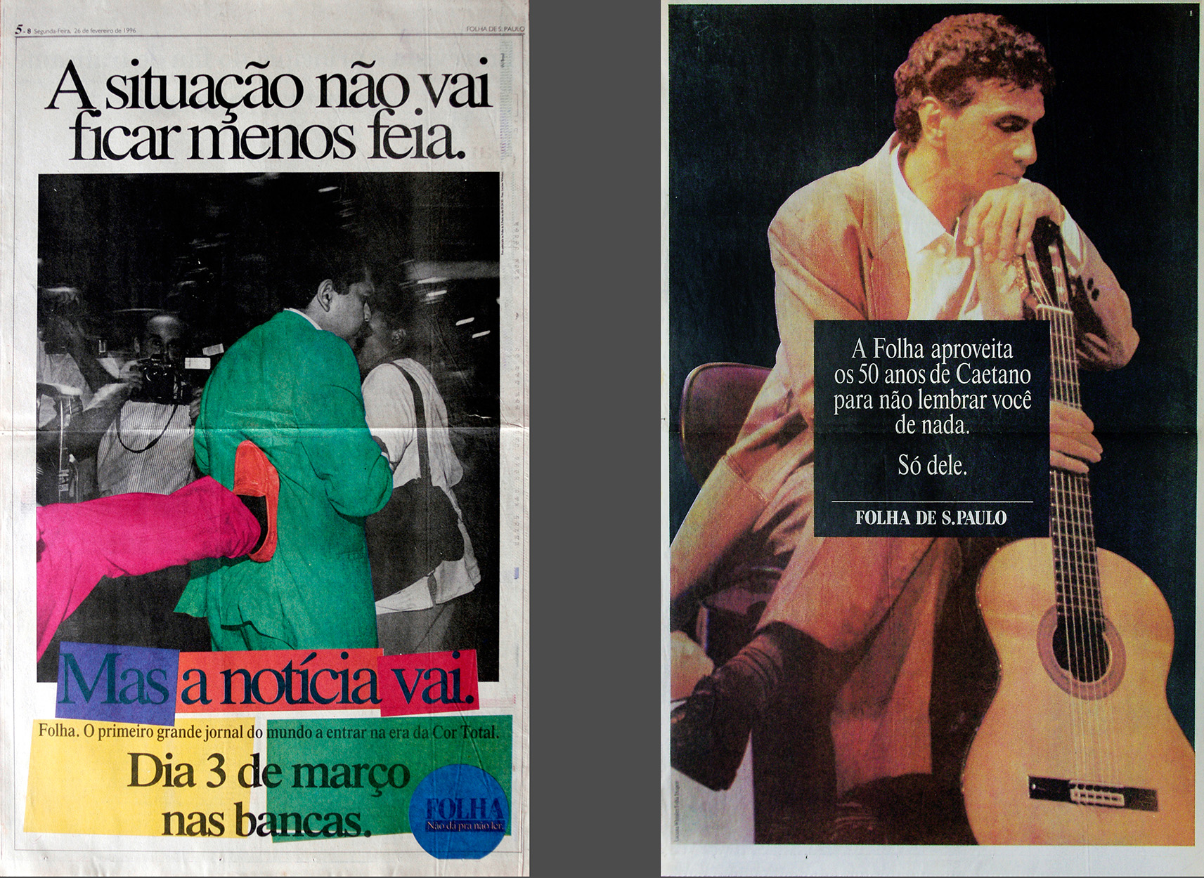 Advertising for newspaper Folha de S Paulo