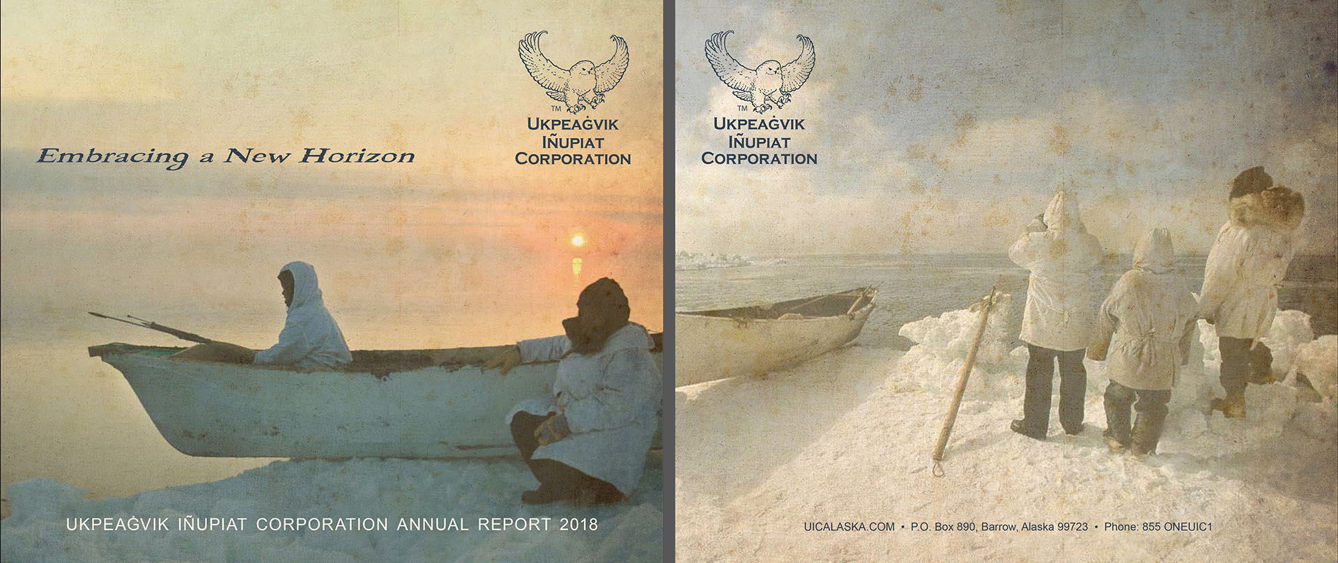Annual Report Front and Back pages